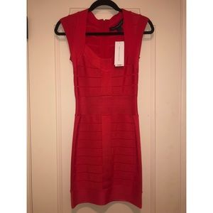 French Connection Red Bandage Dress Size 0